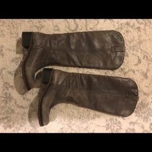 Lucky brand hippie style boots leather grey color